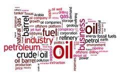 Oil words Stock Photo