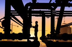 Oil worker. S on a background of the sky Stock Photography