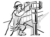 Oil worker. Illustration of an oil worker to work stock illustration