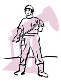 Oil worker. Illustration of an oil worker to work Royalty Free Stock Image