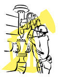 Oil worker Stock Images