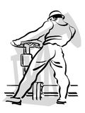 Oil worker. Illustration of an oil worker to work Stock Images