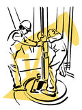 Oil worker. Illustration of an oil worker to work Royalty Free Stock Photos