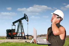 Oil worker Royalty Free Stock Image