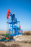 Oil worker check oil pump Stock Photography