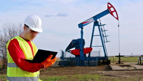 Oil worker check pump jack