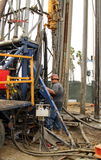 Oil Worker at Oil Well Abandoning Jobsite Stock Photography