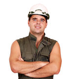 Oil worker portrait Stock Photography