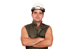 Oil worker posing Stock Photo