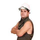 Oil worker posing Stock Image