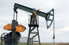 Oil worker Royalty Free Stock Images