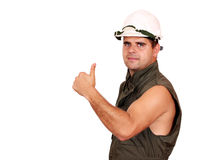 Oil worker success Stock Photos