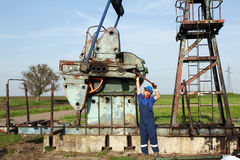 Oil worker working Royalty Free Stock Photography