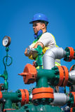 Oil workers Stock Image