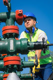 Oil workers Stock Photo