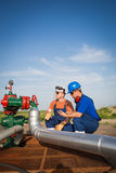 Oil workers Stock Photography