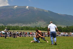 Oil wrestling competition, Dragash Kosovo Royalty Free Stock Image