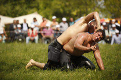 Oil wrestling in Turkey Royalty Free Stock Photography