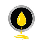 Oil yellow button vector Stock Photos