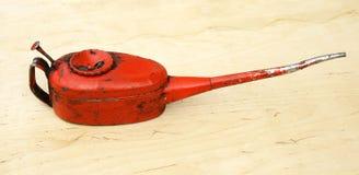 Oilcan vintage. Workshop liquid nose Stock Image