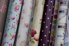 Oilcloth Designs Stock Photo