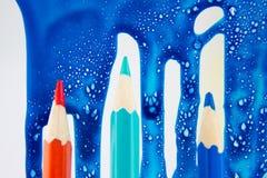 Oilcolor i kolorów ołówki Obraz Royalty Free