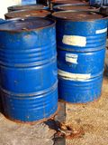 Oildrums at Kaohsiung Harbor Royalty Free Stock Photography