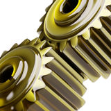 Oiled Gears Concept 3d Illustration Stock Photo