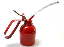 The Oiler. The Red metallic oiler for technical lubricant stock photos