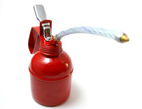 The Oiler. The Red metallic oiler for technical lubricant stock images