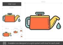Oiler line icon. Oiler vector line icon isolated on white background. Oiler line icon for infographic, website or app. Scalable icon designed on a grid system Stock Images