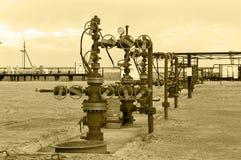 oilfield Huile et industrie du gaz de concept photographie stock