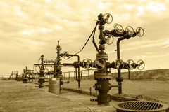 oilfield Huile et industrie du gaz de concept photos libres de droits
