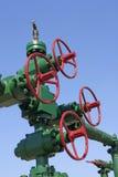 Oilfield pipeline valve Royalty Free Stock Photo