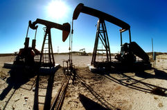 Oilfield Pumping Jacks Royalty Free Stock Images