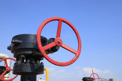 Oilfield valves Royalty Free Stock Photography