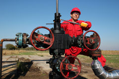 The Oilfield Worker Royalty Free Stock Photos