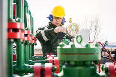 The Oilfield Worker Stock Images