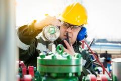 The Oilfield Worker Stock Photo