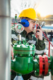 The Oilfield Worker Royalty Free Stock Images