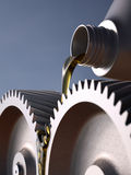 Oiling Gears Close-up Stock Photography