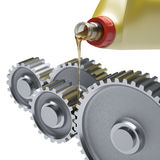 Oiling Gears Royalty Free Stock Photo