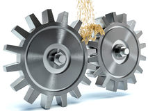 Oiling Gears on white background Royalty Free Stock Images