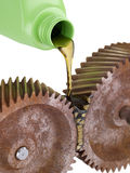Oiling Rusty Gears Royalty Free Stock Image