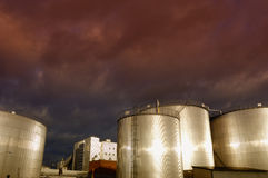 Oilk and gas industry, storage towers Stock Photo