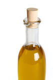 Oilneck. A nice isoloated oliveoilbottle with a cork Stock Photos