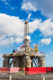 Oilp platform at port Royalty Free Stock Photo