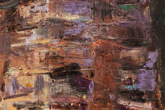 Oilpainted kanfas Arkivfoto
