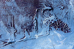 Oilpainting Blauwe Grunge ziet eruit Stock Foto
