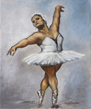 Oilpainting - Fat Ballerina Royalty Free Stock Photo